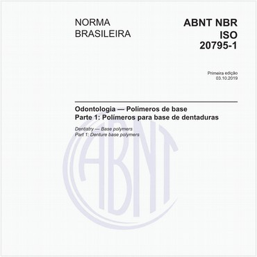 NBRISO20795-1 de 10/2019