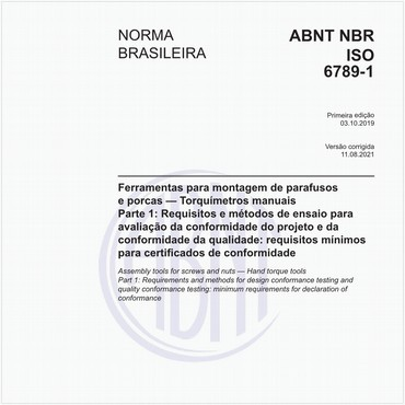 NBRISO6789-1 de 10/2019