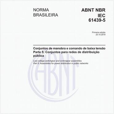 NBRIEC61439-5 de 10/2019