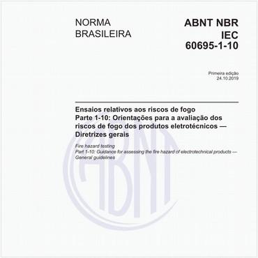 NBRIEC60695-1-10 de 10/2019