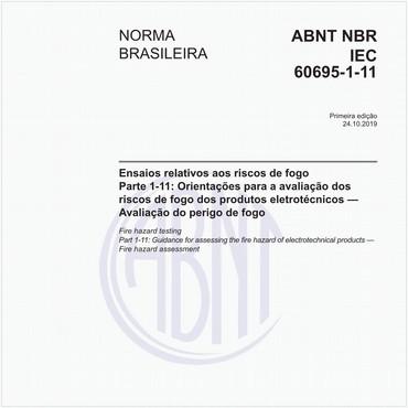 NBRIEC60695-1-11 de 10/2019