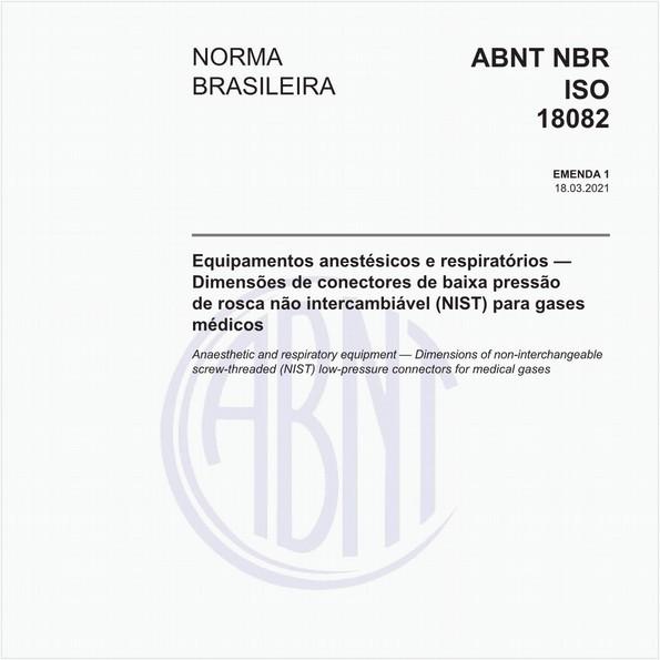 Equipamentos anestésicos e respiratórios - Dimensões de conectores de baixa pressão de rosca não intercambiável (NIST) para gases médicos