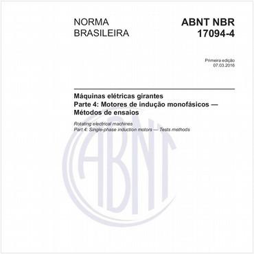 NBR17094-4 de 03/2016