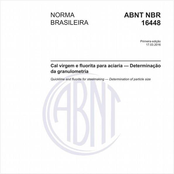 Cal virgem e fluorita para aciaria — Determinação da granulometria