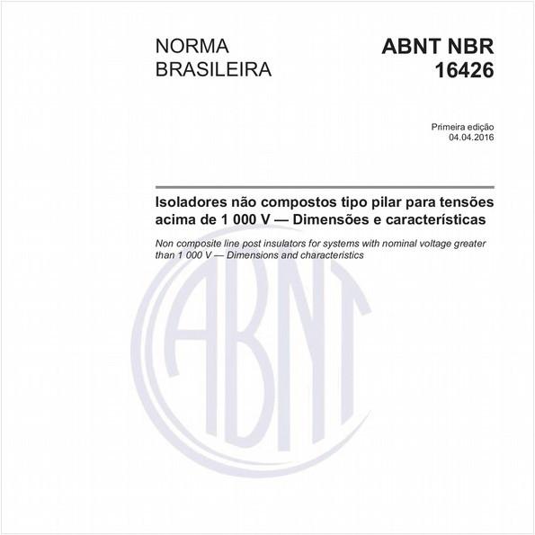 Isoladores não compostos tipo pilar para tensões acima de 1 000 V — Dimensões e características