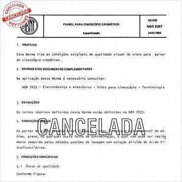 NBR8367 de 01/1984