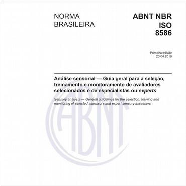 NBRISO8586 de 04/2016
