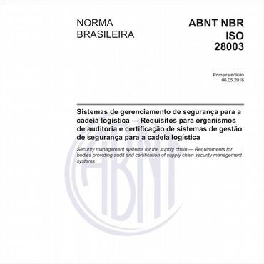 NBRISO28003 de 05/2016