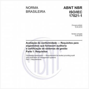 NBRISO/IEC17021-1 de 05/2016