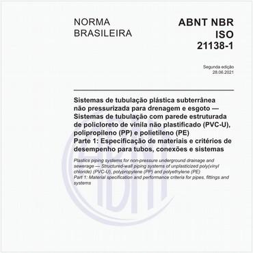 NBRISO21138-1 de 05/2016