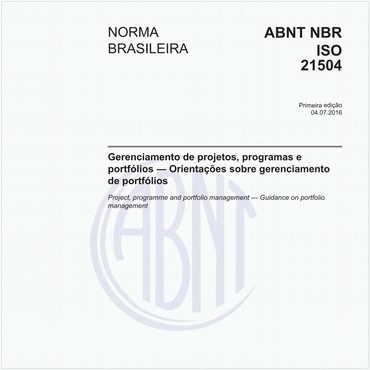 NBRISO21504 de 07/2016