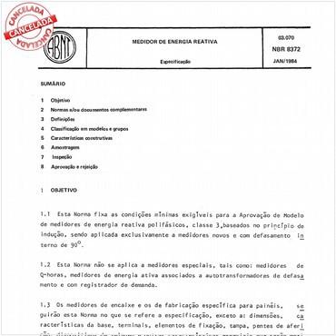 NBR8372 de 01/1984