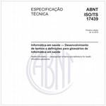 ABNT ISO/TS17439
