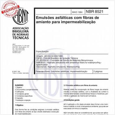 NBR8521 de 05/1984