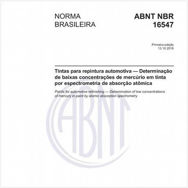 NBR16547 de 10/2016