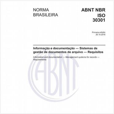 NBRISO30301 de 10/2016