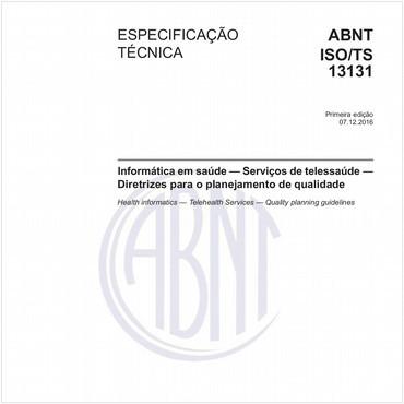 ABNT ISO/TS13131 de 12/2016