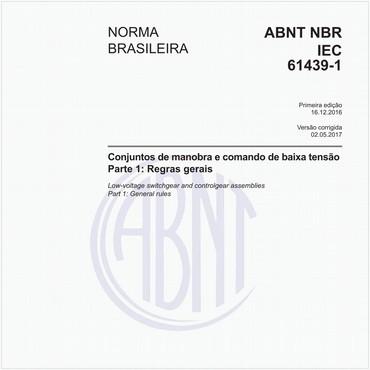 NBRIEC61439-1 de 12/2016