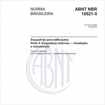 NBR10821-5 de 02/2017