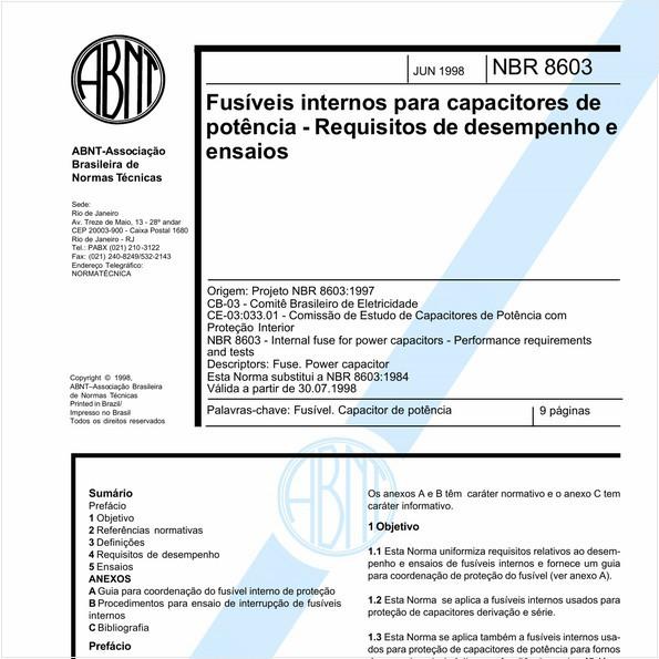 NBR8603 de 06/1998