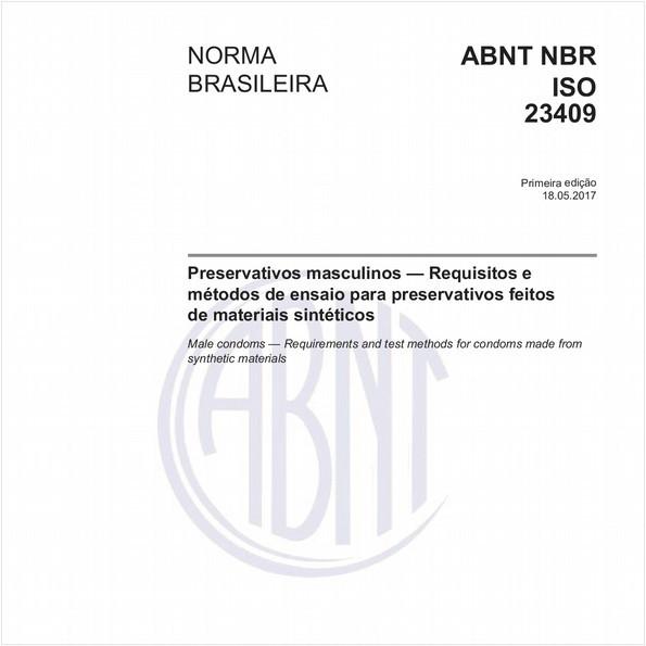 Preservativos masculinos — Requisitos e métodos de ensaio para preservativos feitos de materiais sintéticos
