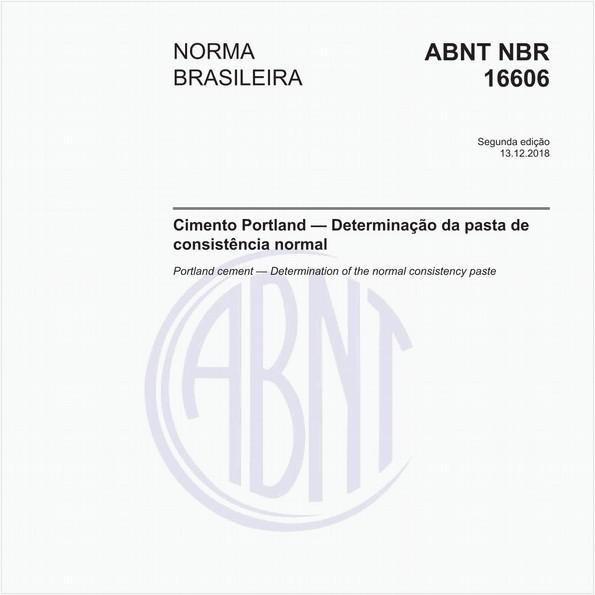 Cimento Portland — Determinação da pasta de consistência normal
