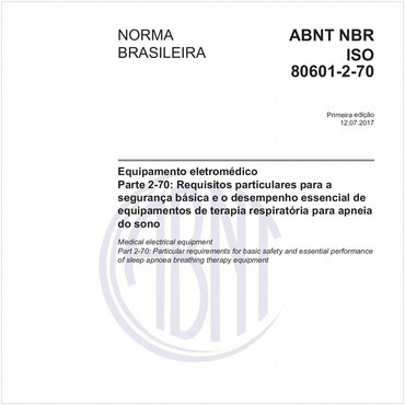 NBRISO80601-2-70 de 07/2017