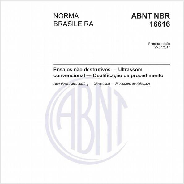 Ensaios não destrutivos - Ultrassom convencional - Qualificação de procedimento