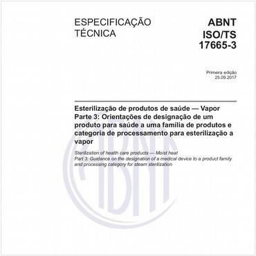 ABNT ISO/TS17665-3 de 09/2017
