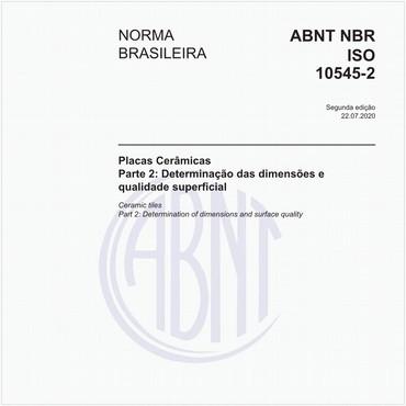 NBRISO10545-2 de 10/2017