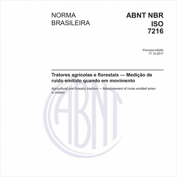 Tratores agrícolas e florestais - Medição de ruído emitido quando em movimento