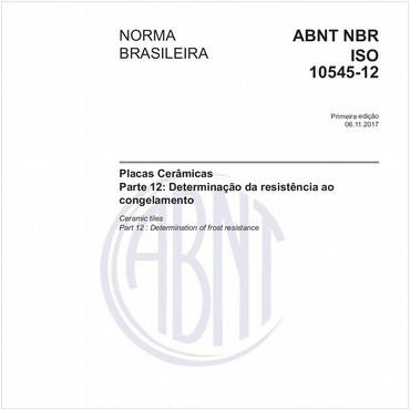 NBRISO10545-12 de 11/2017