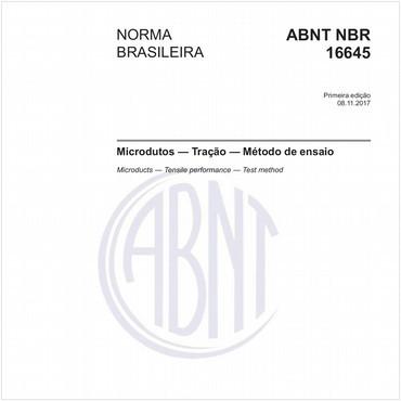 NBR16645 de 11/2017