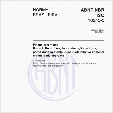 NBRISO10545-3 de 11/2017