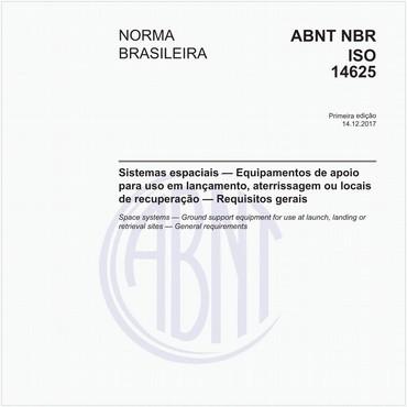 NBRISO14625 de 12/2017