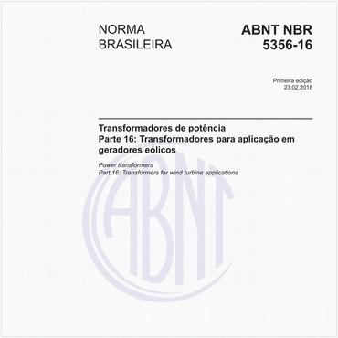 NBR5356-16 de 02/2018