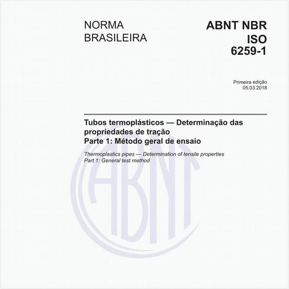 Tubos termoplásticos — Determinação das propriedades de tração - Parte 1: Método geral de ensaio