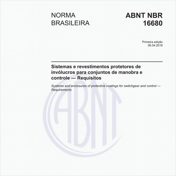 Sistemas e revestimentos protetores de invólucros para conjuntos de manobra e controle - Requisitos