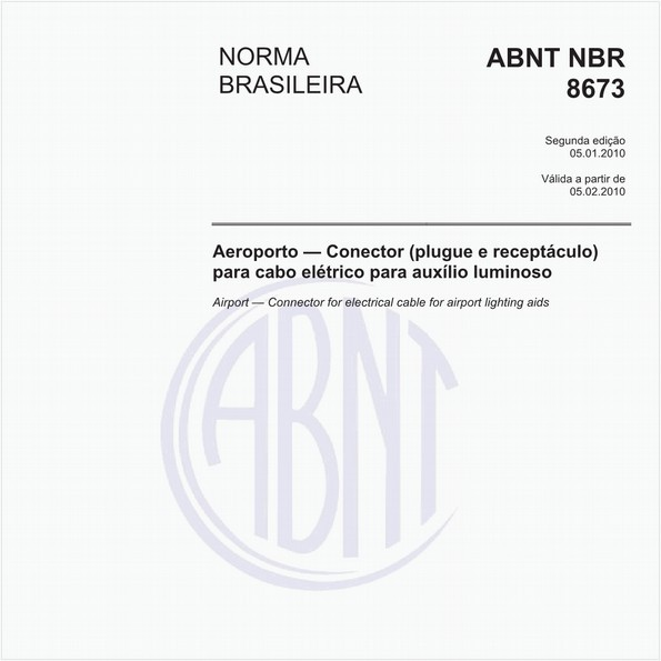 Aeroporto — Conector (plugue e receptáculo) para cabo elétrico para auxílio luminoso