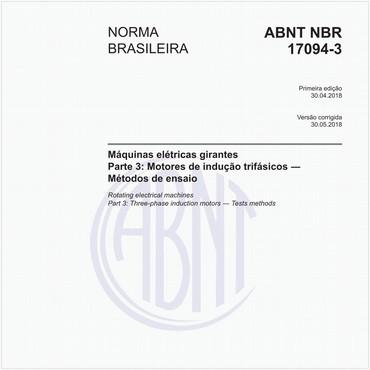 NBR17094-3 de 04/2018