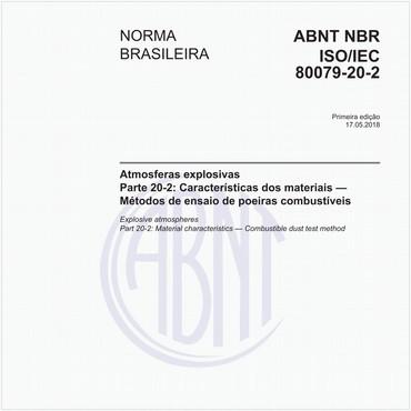 NBRISO/IEC80079-20-2 de 05/2018
