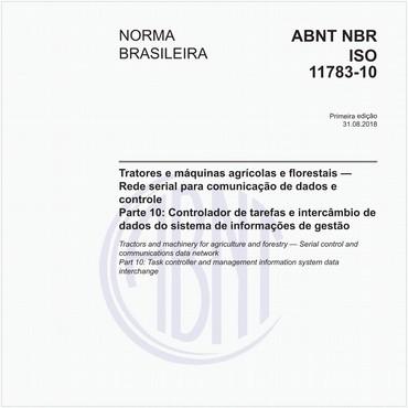 NBRISO11783-10 de 08/2018