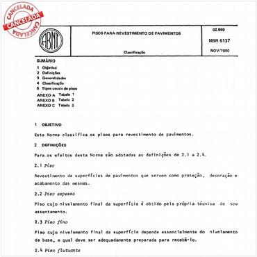 NBR6137 de 11/1980