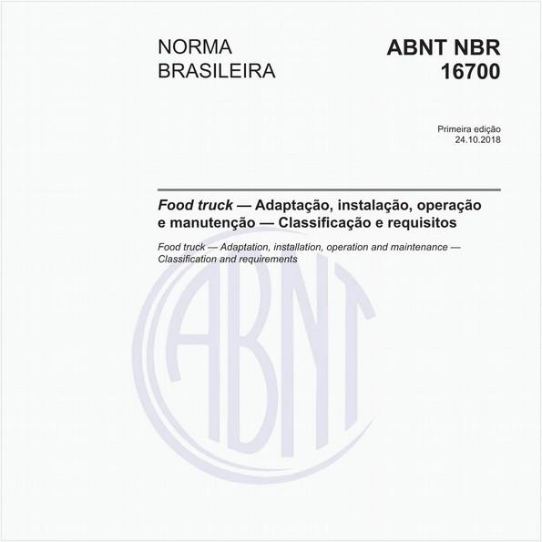Food truck - Adaptação, instalação, operação e manutenção - Classificação e requisitos
