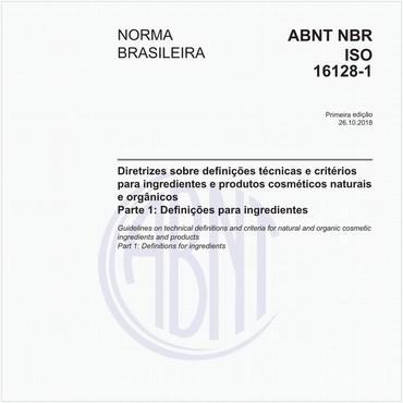 NBRISO16128-1 de 10/2018