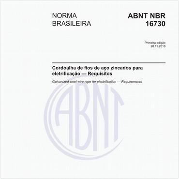 NBR16730 de 11/2018