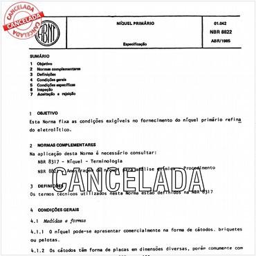 NBR8822 de 04/1985