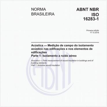 NBRISO16283-1 de 12/2018