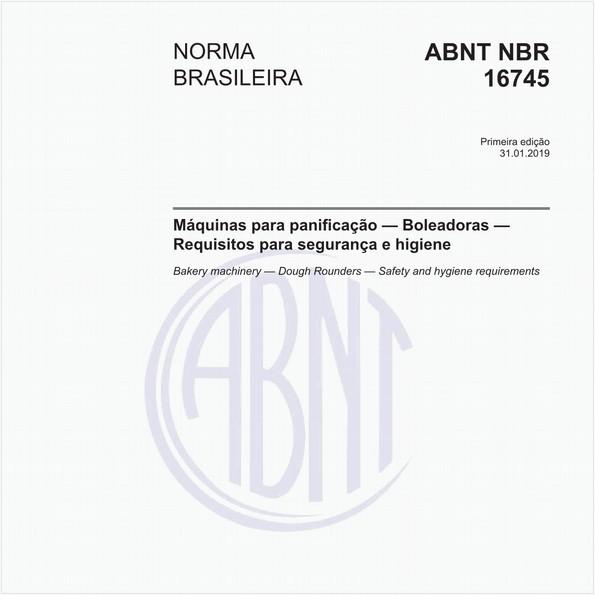 Máquinas para panificação - Boleadoras - Requisitos para segurança e higiene