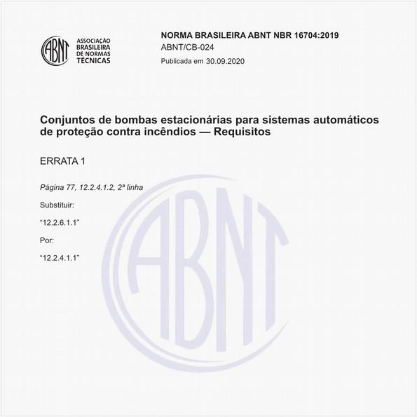 Conjuntos de bombas estacionárias para sistemas automáticos de proteção contra incêndios - Requisitos